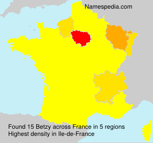 Surname Betzy in France