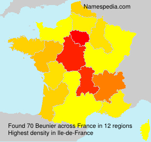 Familiennamen Beunier - France