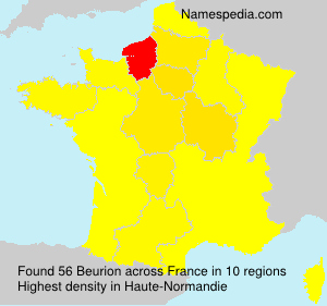 Surname Beurion in France