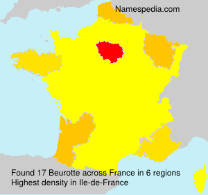 Surname Beurotte in France
