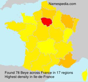 Familiennamen Beye - France