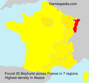 Surname Beyhurst in France