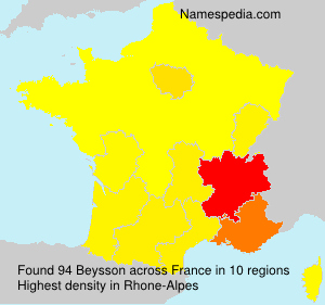 Surname Beysson in France