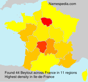 Surname Beytout in France