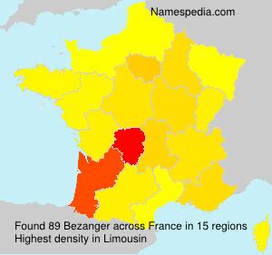 Surname Bezanger in France