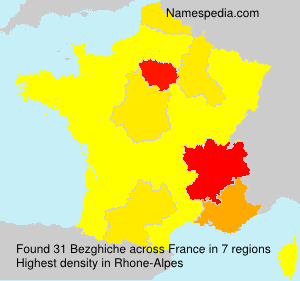 Surname Bezghiche in France