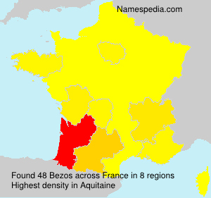 Surname Bezos in France