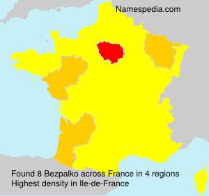 Surname Bezpalko in France