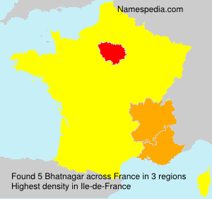 Surname Bhatnagar in France
