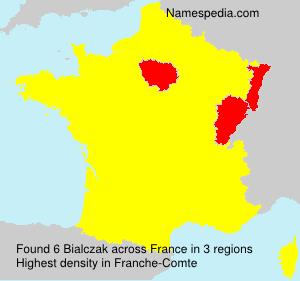 Surname Bialczak in France