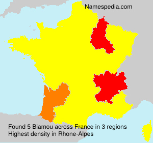 Surname Biamou in France