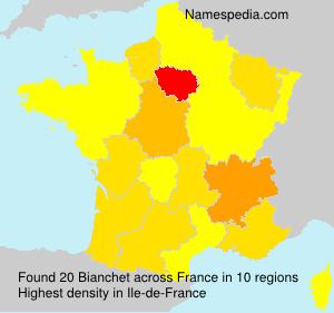 Familiennamen Bianchet - France