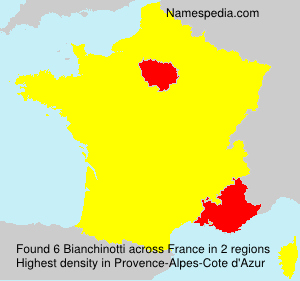 Surname Bianchinotti in France