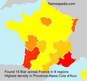 Familiennamen Biar - France