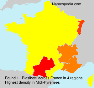 Surname Biasibetti in France
