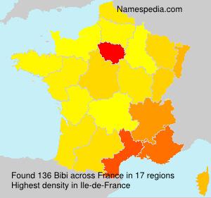 Surname Bibi in France