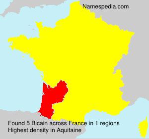 Familiennamen Bicain - France
