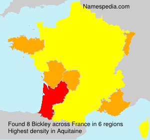 Surname Bickley in France