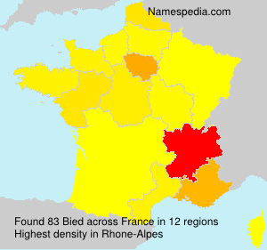 Surname Bied in France