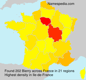 Surname Bierry in France
