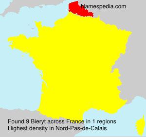 Surname Bieryt in France