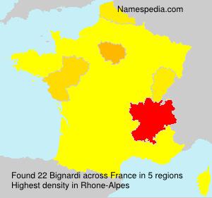 Surname Bignardi in France