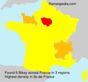 Surname Bikay in France