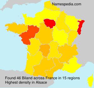 Familiennamen Biland - France