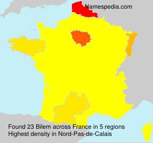 Familiennamen Bilem - France