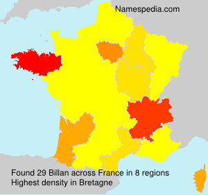 Surname Billan in France