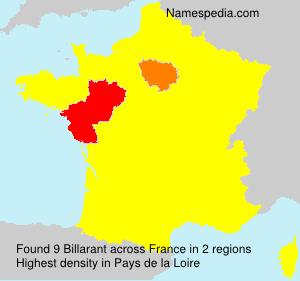 Surname Billarant in France