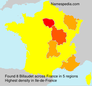 Familiennamen Billaudet - France