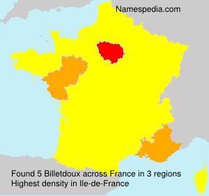 Surname Billetdoux in France