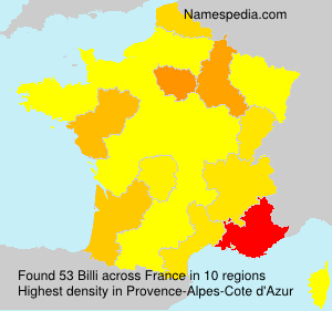 Surname Billi in France