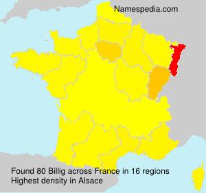 Surname Billig in France