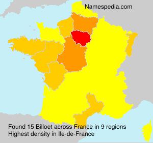 Surname Billoet in France