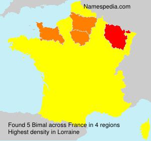 Surname Bimal in France