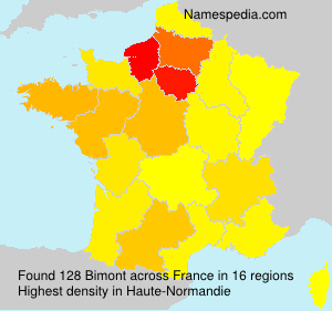 Surname Bimont in France