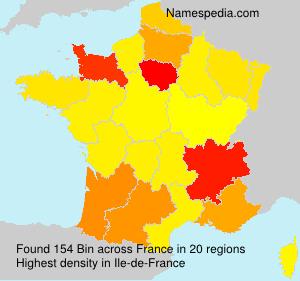 Familiennamen Bin - France
