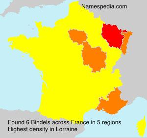 Familiennamen Bindels - France