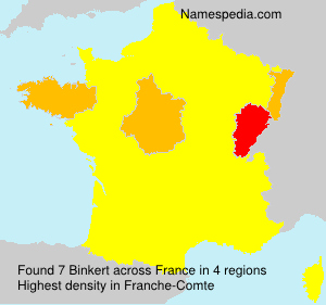 Familiennamen Binkert - France