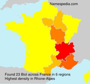 Familiennamen Biol - France