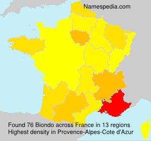 Surname Biondo in France