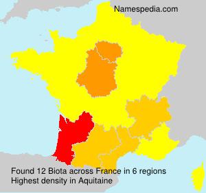 Surname Biota in France