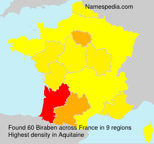 Surname Biraben in France
