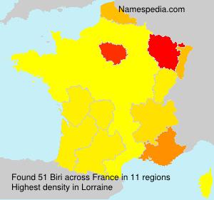 Surname Biri in France