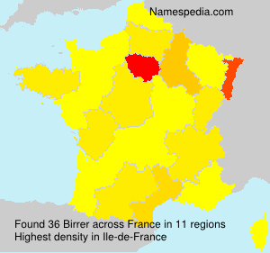 Surname Birrer in France