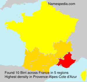 Surname Birri in France