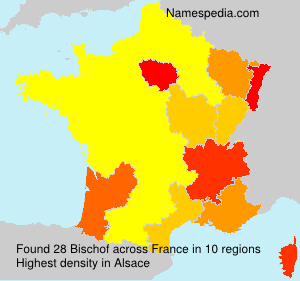 Surname Bischof in France