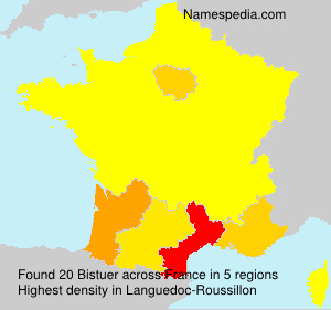 Surname Bistuer in France